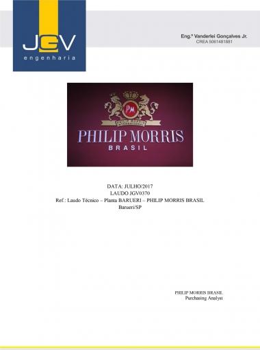 Laudo Técnico - Planta Barueri - Philip Morris Brasil Barueri/SP